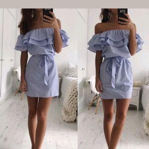 Dresses & Skirts - Nwt blue adorable Summer mini dress size S